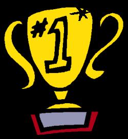 1st place trophy clipart image
