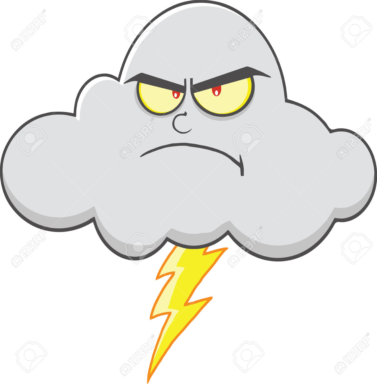 Angry cloud clipart