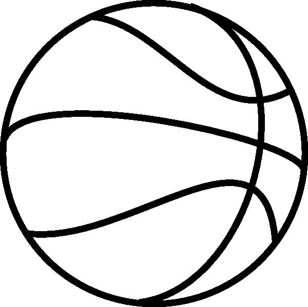 Basketball clip art black white