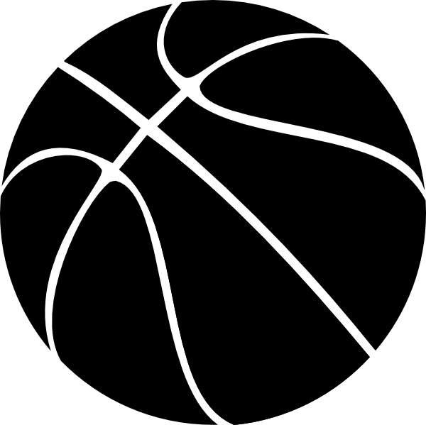 Basketball clipart black white
