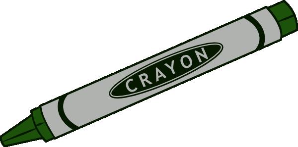 Black crayon clipart clip art image