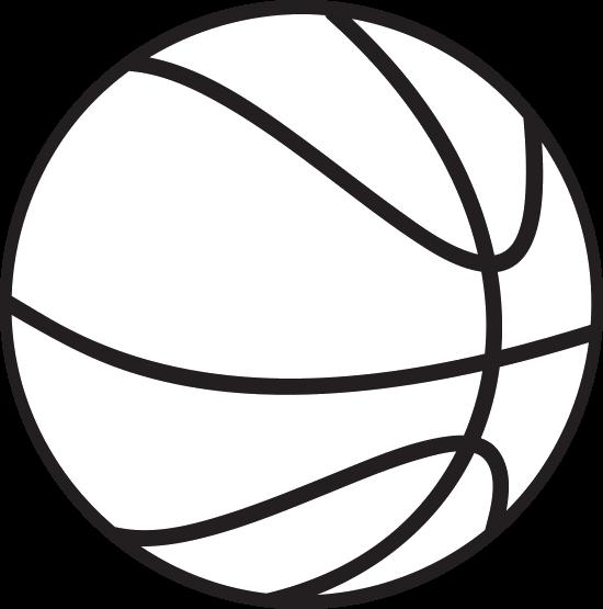 Black white basketball clipart free