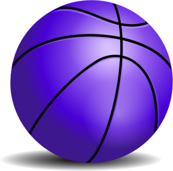 Blue basketball clipart