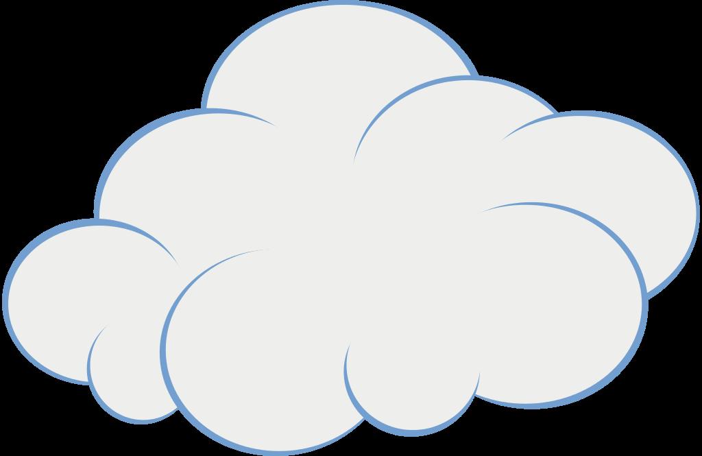 Blue cloud clipart image