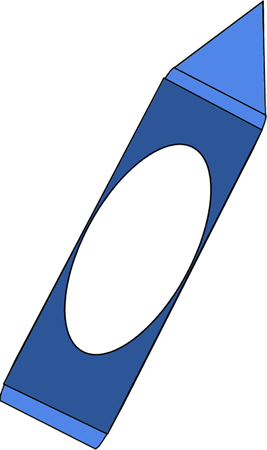 Blue crayon clipart free