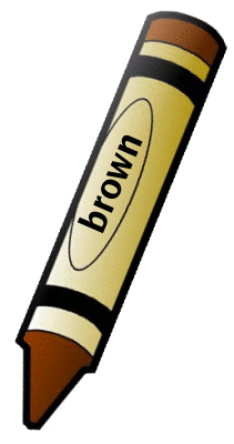 Brown crayon clipart free images