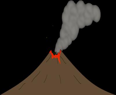 Brown volcano clip art