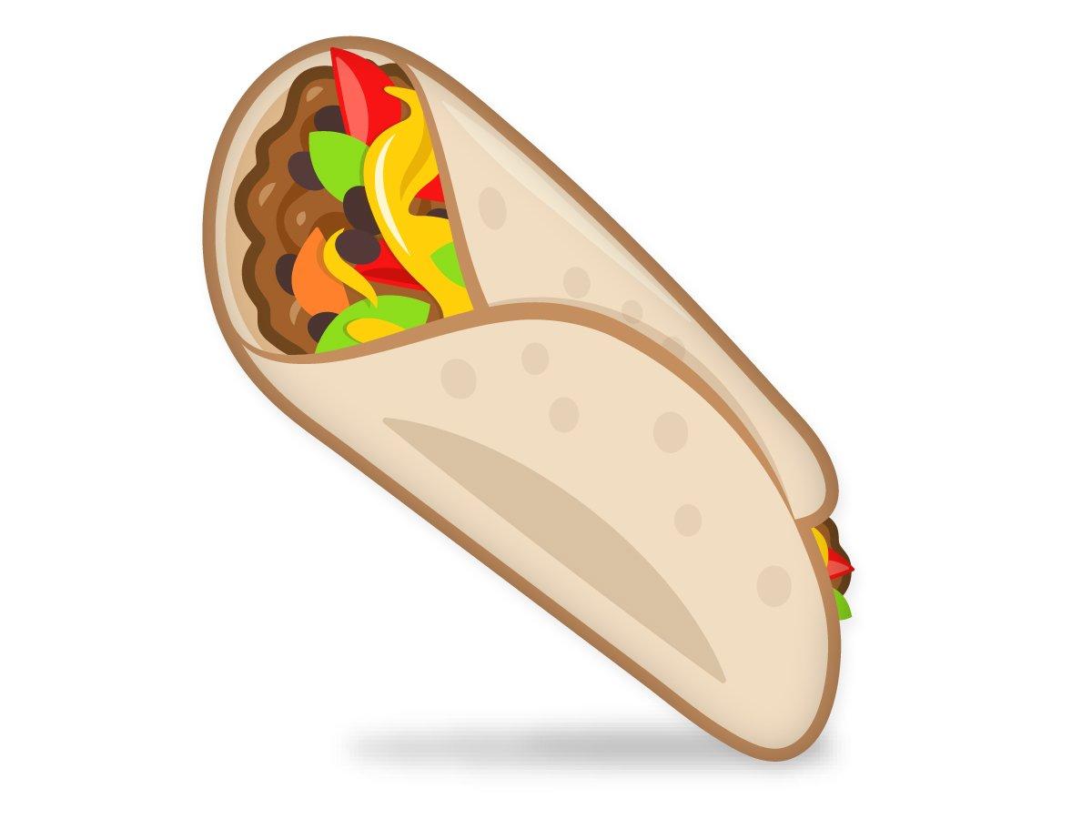 Burrito taco clip art image