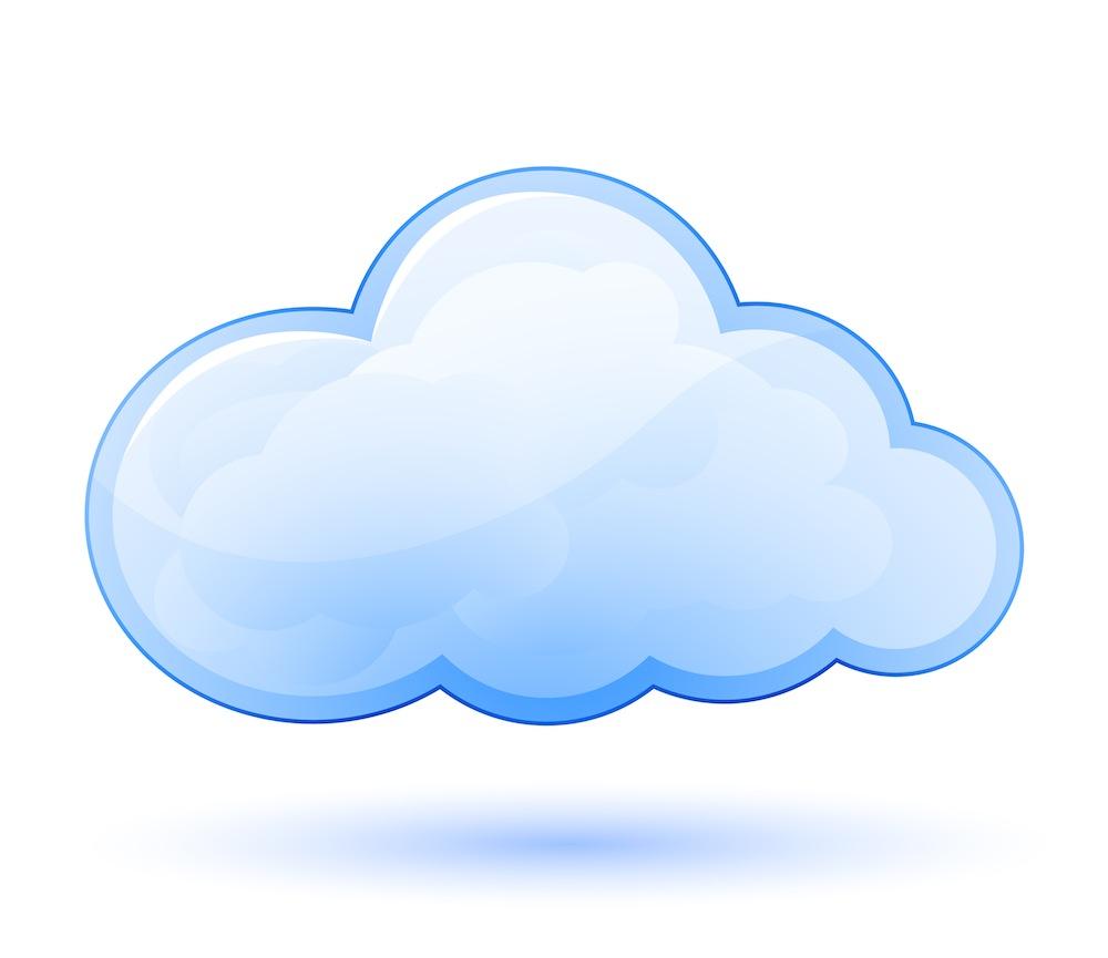 Cloud clip art blue free clipart image