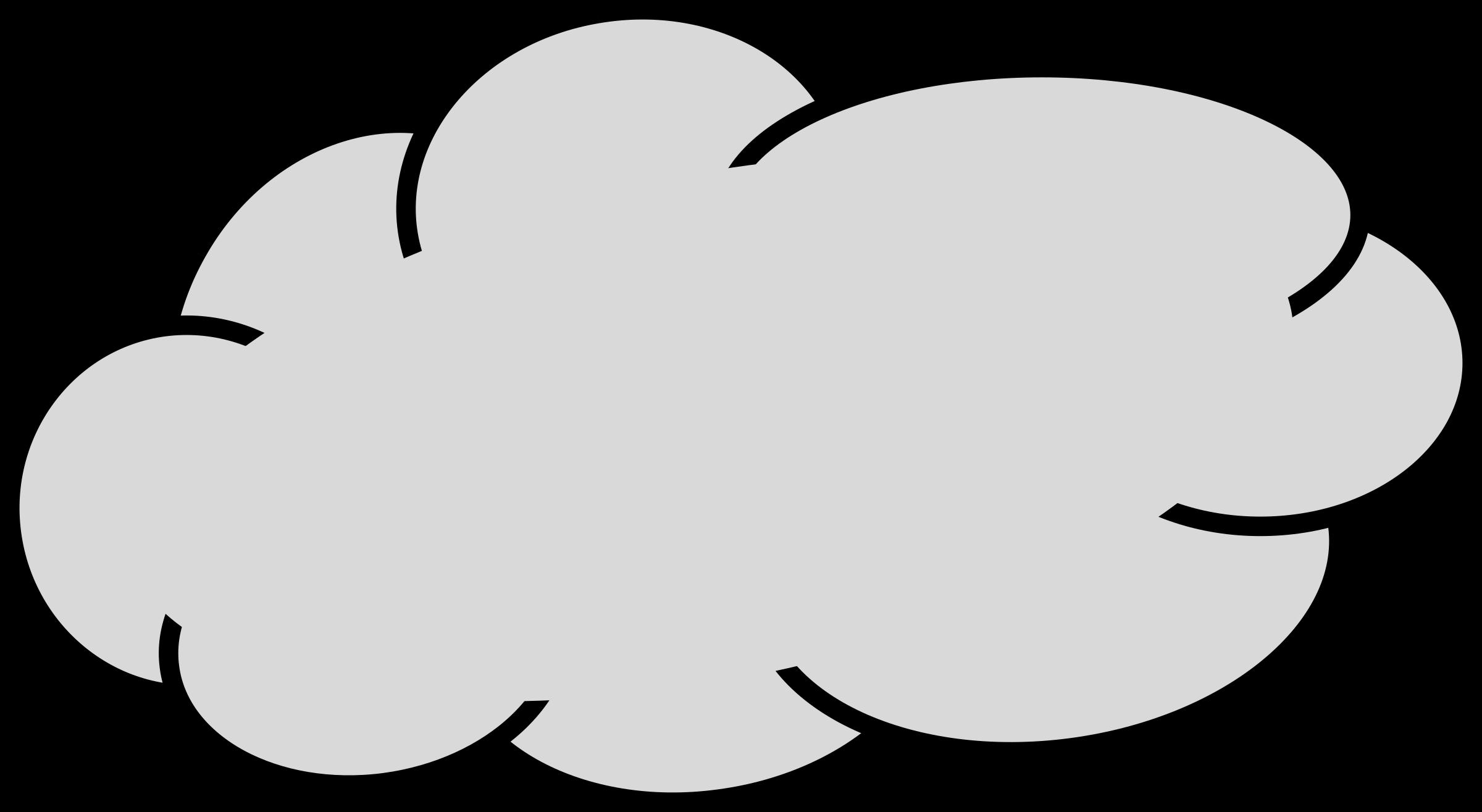 Cloud clip art grey clipart