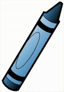 Crayon clip art blue free clipart images