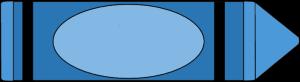 Crayon clipart blue color image