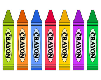 Crayon clipart colorful