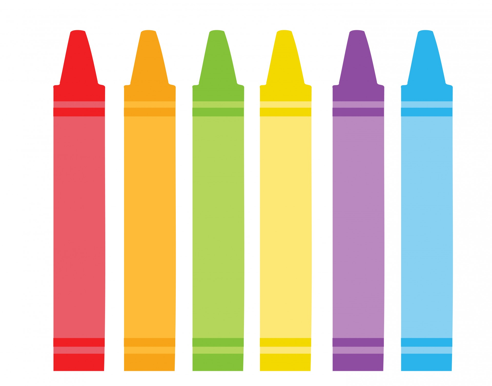 Crayon clipart images vector