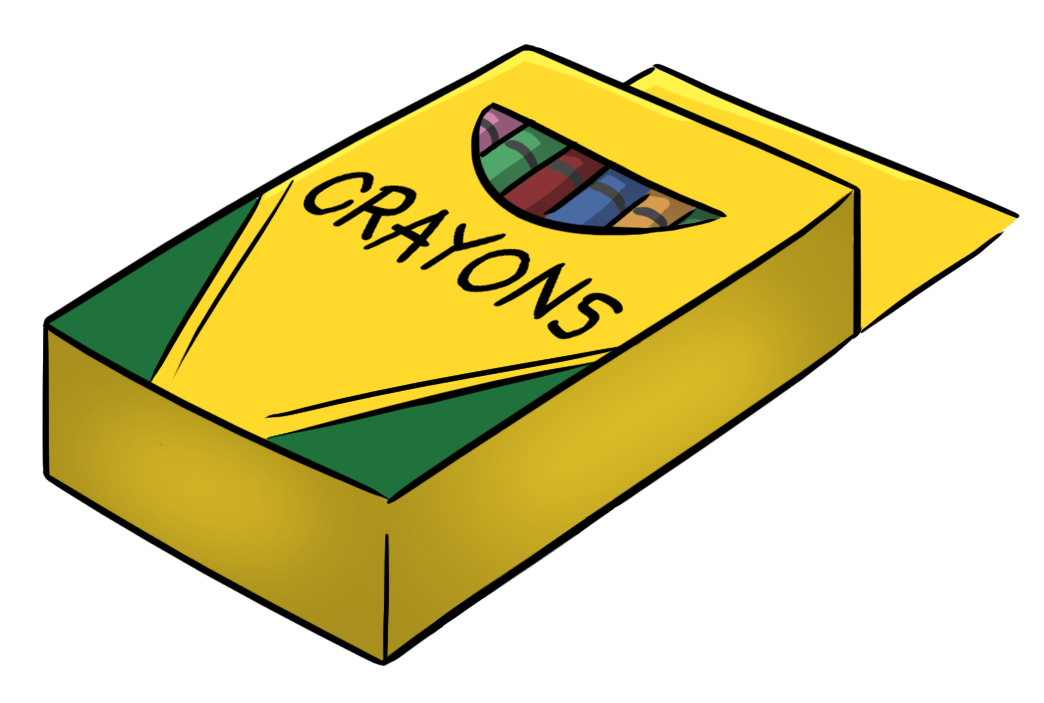 Crayon clipart in box image