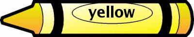 Crayon clipart yellow color