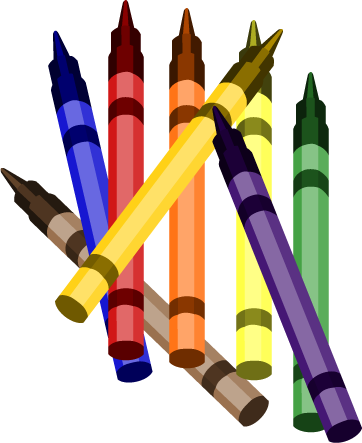 Crayons cartoon clipart
