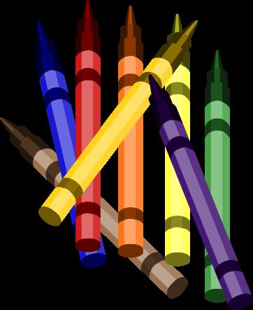 Crayons cartoon clipart