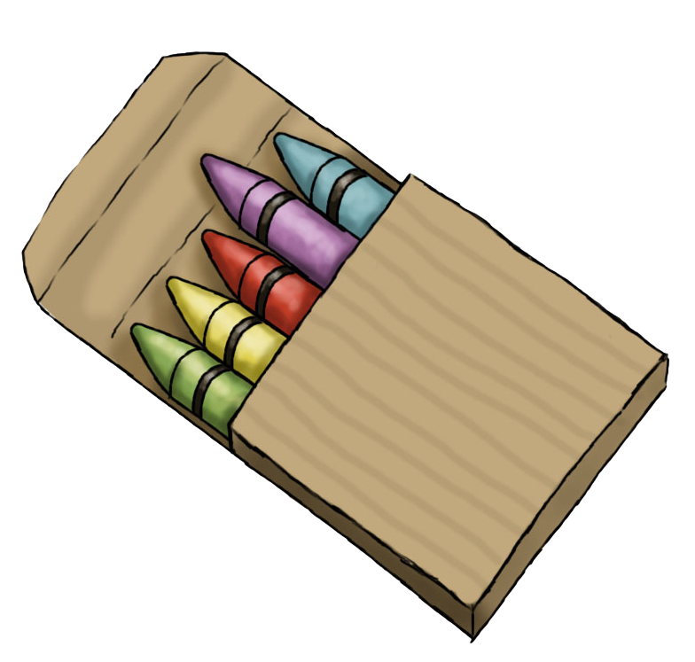 Cute crayons clip art