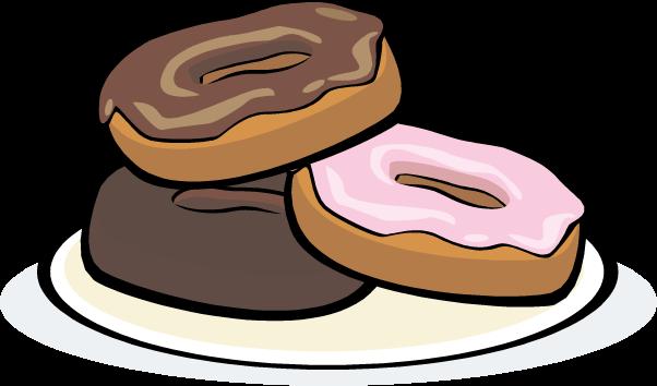 Donut clip art in plate