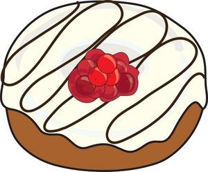 Donut clip art white cream