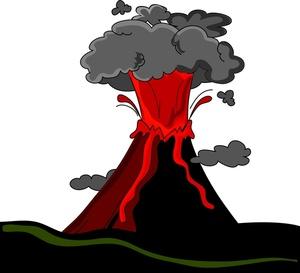 Fire volcano clipart