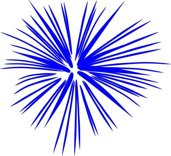 Firework blue. Fireworks clip art image
