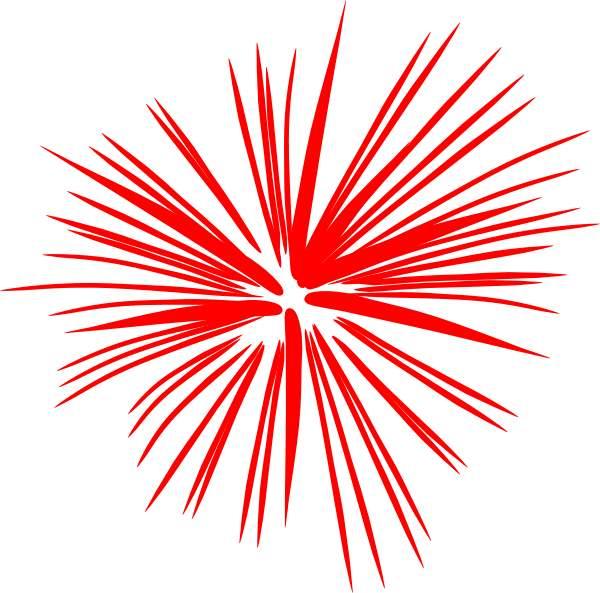 Fireworks clip art red clipart firework