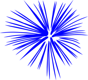 Fireworks clipart blue free images 2