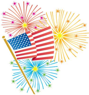 Fireworks firework clipart american
