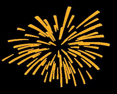 Fireworks firework clipart golden