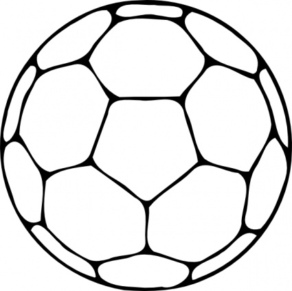 Football outline clipart free image