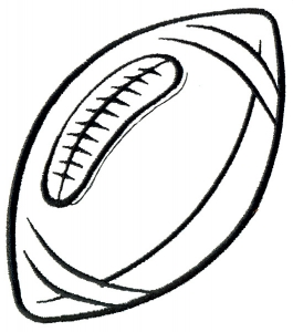 Football outline image free clipart images 5