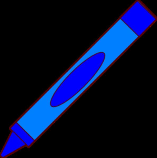 Free crayon clipart blue color