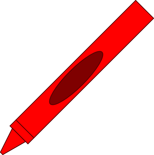 Free crayon clipart red color