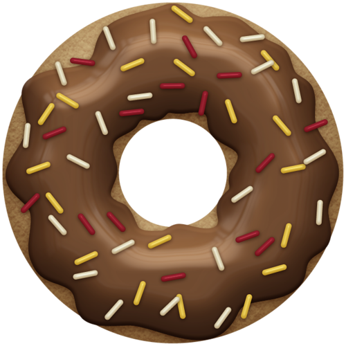 Free donut clipart chocolate image