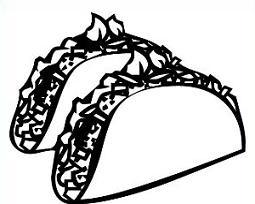 Free taco clipart black white