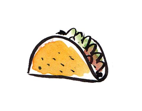 Free taco clipart vectore