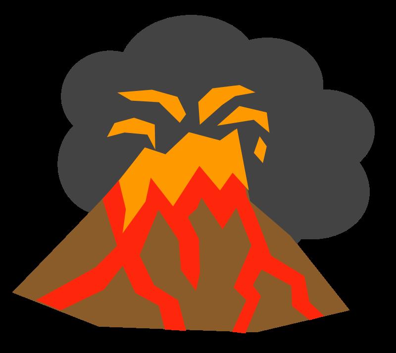 Free volcano clip art