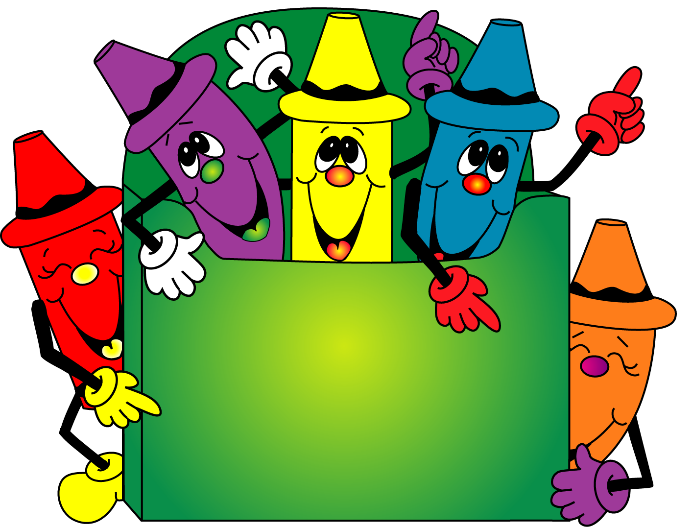 Funny crayon clipart border free images