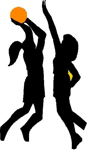 Girls basketball clipart