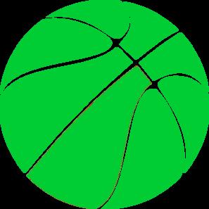 Green basketball clip art free