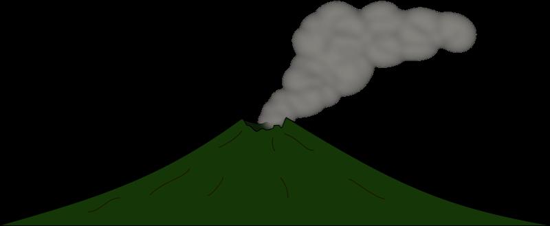 Green volcano clipart