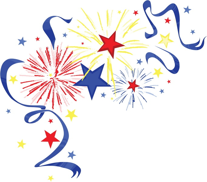 July fireworks clipart free