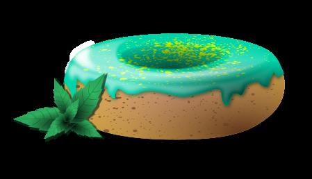 Mint donut clip art