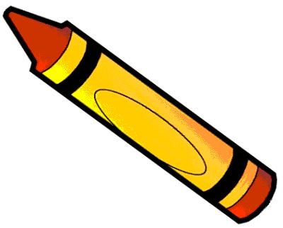 Orange crayon clip art image