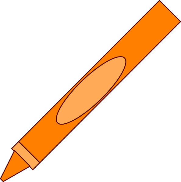 Orange crayon clipart free images