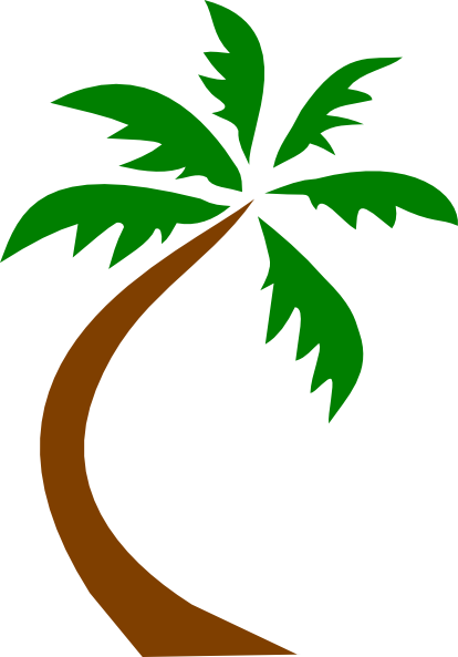 Palm tree clip art image free