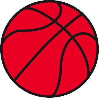 Red basketball clip art