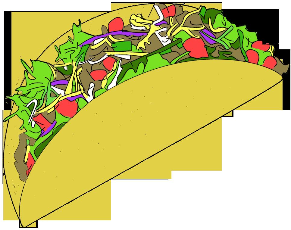 Taco clip art free vector